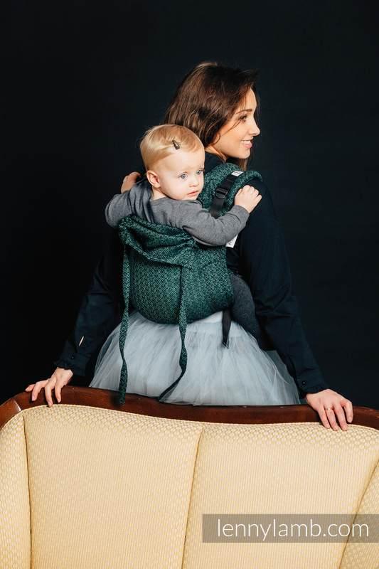 Onbuhimo SAD LennyLamb, talla estándar, jacquard (60% algodón, 28% lino, 12% seda tusor) - LITTLE LOVE - IVY #babywearing
