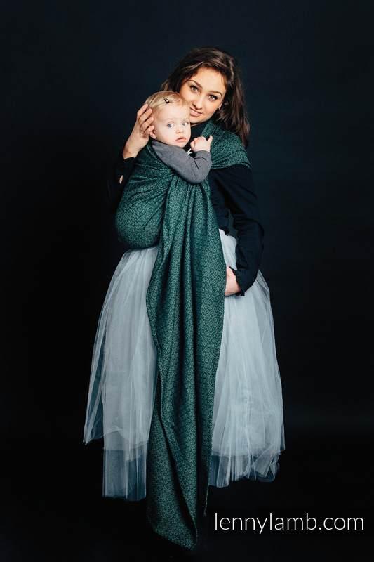 Żakardowa chusta kółkowa do noszenia dzieci, 60% Bawełna 28% Len 12% Jedwab Tussah - LITTLE LOVE - BLUSZCZ #babywearing