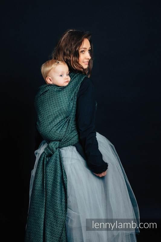 Baby Wrap, Jacquard Weave (60% cotton 28% linen 12% tussah silk) - LITTLE LOVE - IVY - size M #babywearing