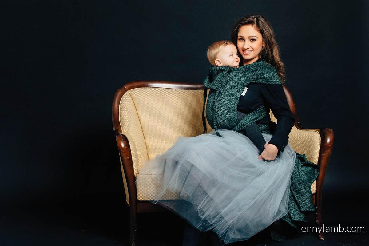 Nosidełko dla dzieci WRAP-TAI TODDLER, 60% Bawełna 28% Len 12% Jedwab Tussah, splot żakardowy, z kapturkiem, LITTLE LOVE - BLUSZCZ #babywearing