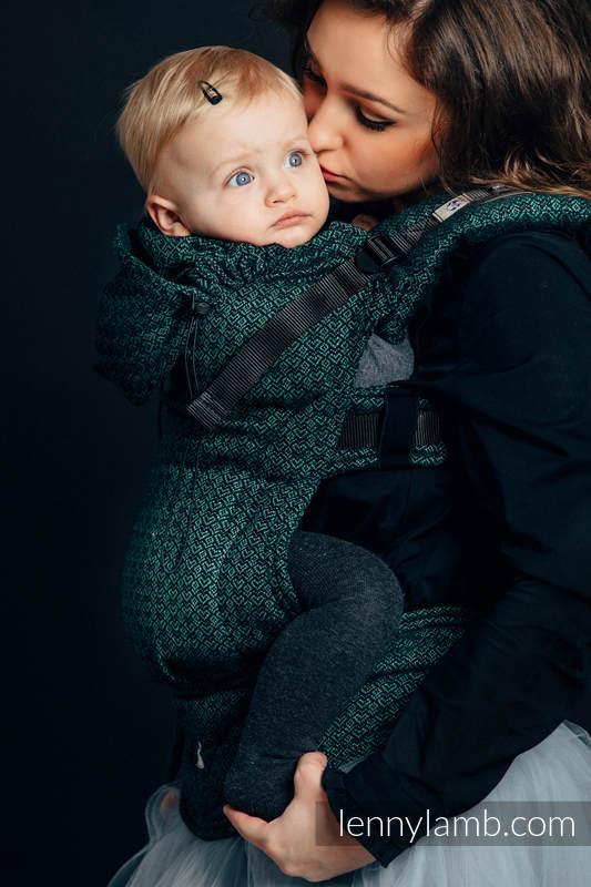Nosidełko Ergonomiczne z tkaniny żakardowej 60% Bawełna 28% Len 12% Jedwab Tussah, Baby Size, LITTLE LOVE - BLUSZCZ, Druga Generacja #babywearing