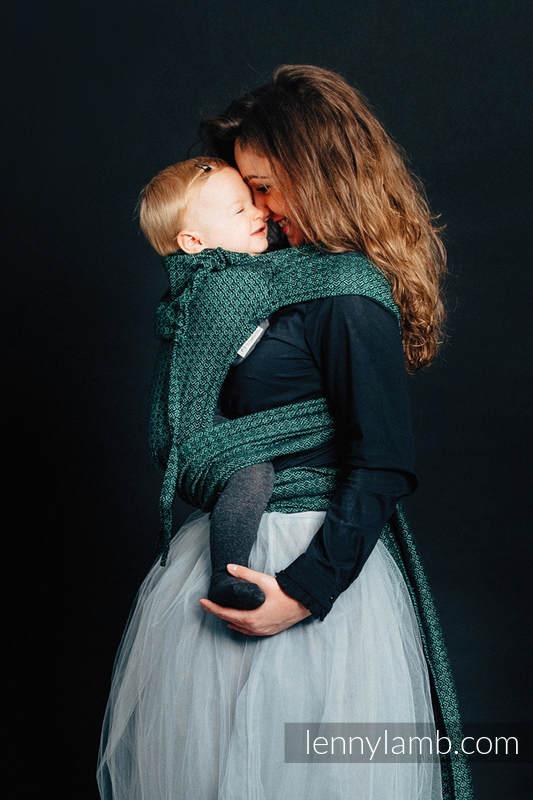 Nosidełko dla dzieci WRAP-TAI MINI, 100 % bawełna skośno-krzyżowa, z kapturkiem,  LITTLE LOVE - BLUSZCZ #babywearing