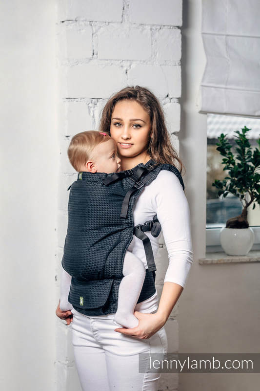 LennyUp Carrier, Standard Size, tessera weave 100% cotton - wrap conversion from BASIC LINE ONYX #babywearing
