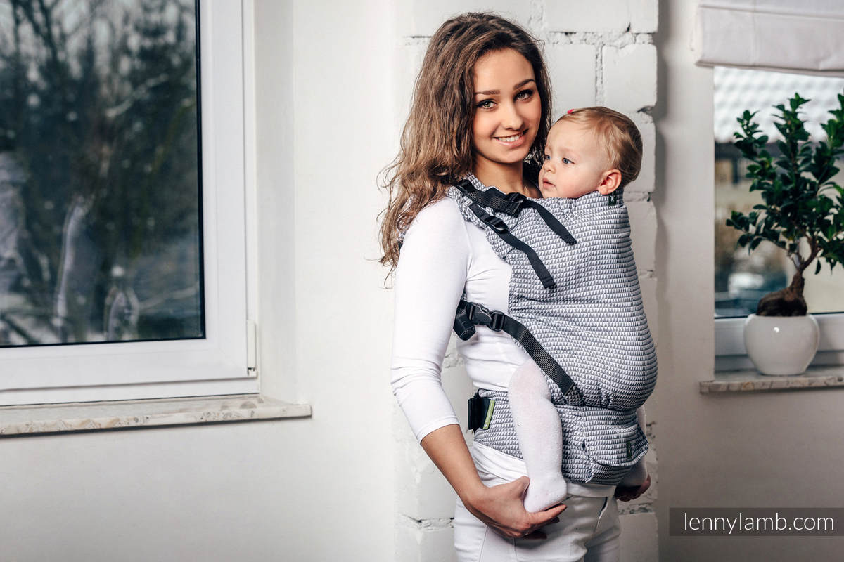 LennyUp Carrier, Standard Size, tessera weave 100% cotton - wrap conversion from BASIC LINE SELENITE #babywearing