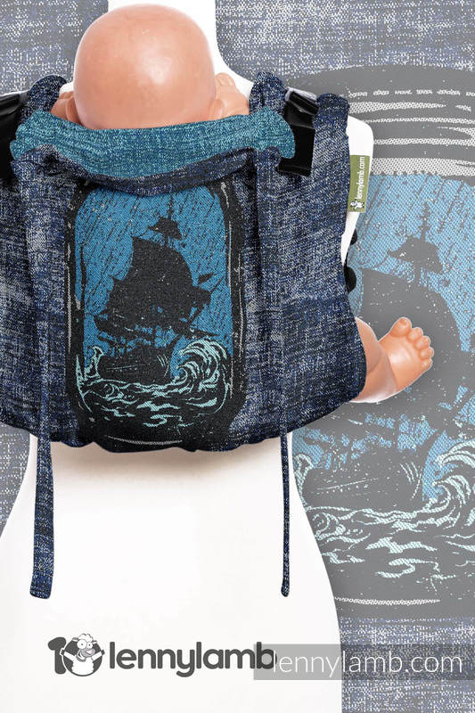Lenny Buckle Onbuhimo, toddler size, jacquard weave (100% cotton) - Wrap conversion from BE DREAMER!  #babywearing