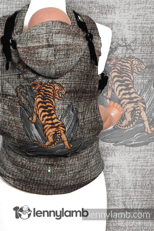Ergonomic Carrier, Toddler Size, jacquard weave 100% cotton - wrap conversion from BE WILD! - Second Generation #babywearing