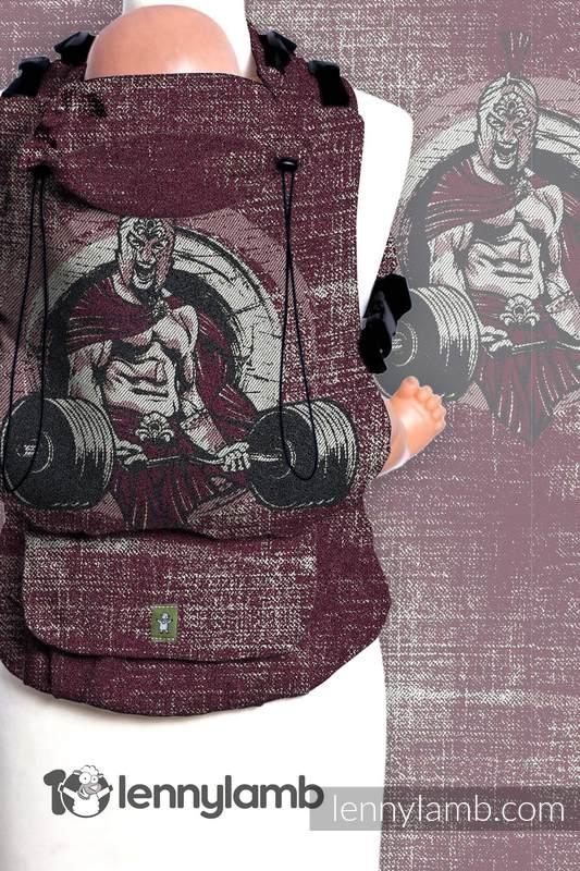 Nosidełko LennyUp z tkaniny żakardowej 100% bawełna , rozmiar standard, BE STRONG! #babywearing