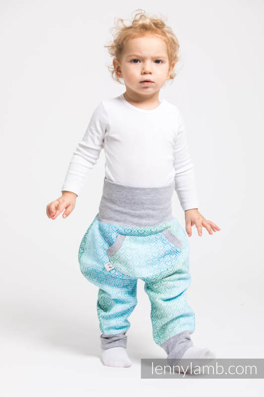LennyBaggy - talla 62 - Big Love - Ice Mint con Gris #babywearing