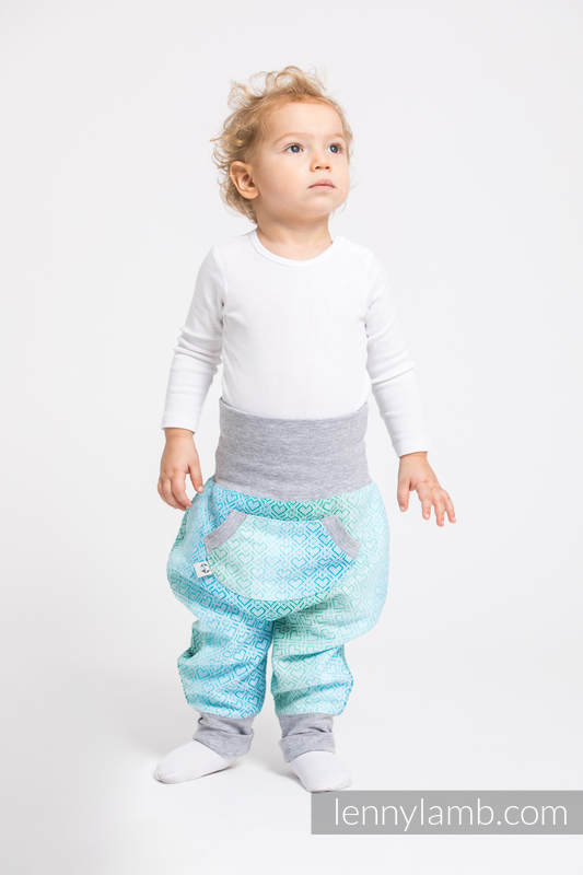 LennyBaggy - size 86 - Big Love - Ice Mint & Grey #babywearing