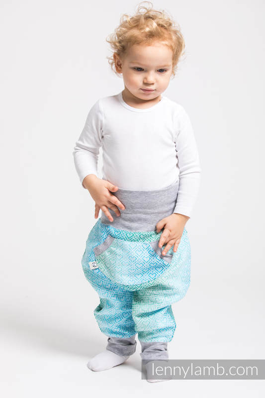 LennyBaggy - size 74 - Big Love - Ice Mint & Grey #babywearing