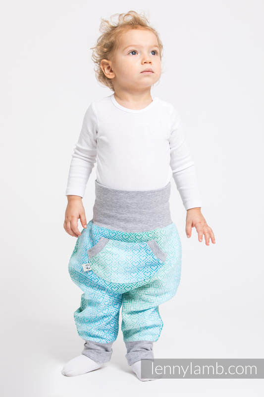 LennyBaggy - size 92 - Big Love - Ice Mint & Grey #babywearing