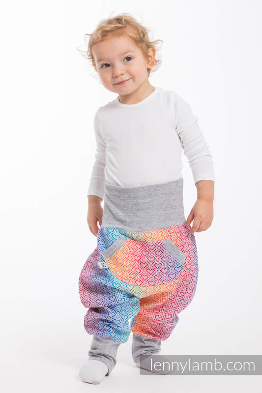 LennyBaggy - talla 80 - Big Love - Rainbow con Gris #babywearing