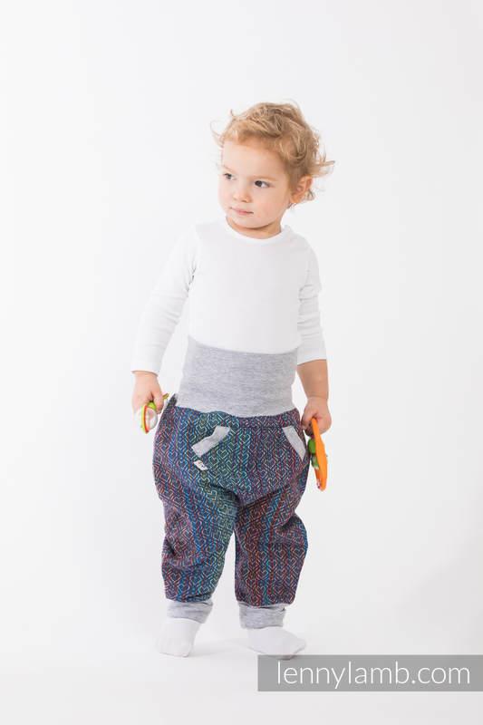 LennyBaggy - size 74 - Big Love - Sapphire & Grey #babywearing