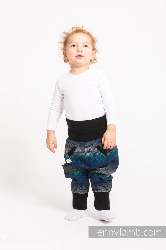 LennyBaggy - size 74 - Little Herringbone Illusion & Black #babywearing