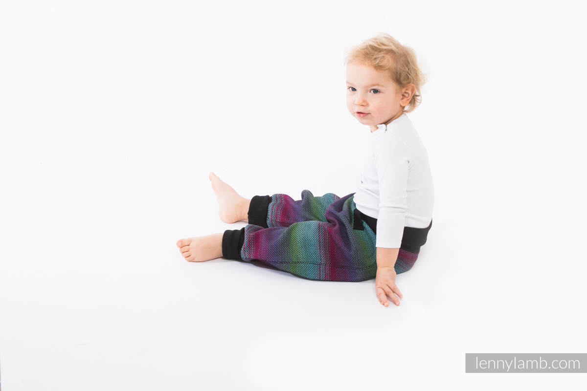 LennyBaggy - size 68 - Little Herringbone Impression Dark & Black #babywearing
