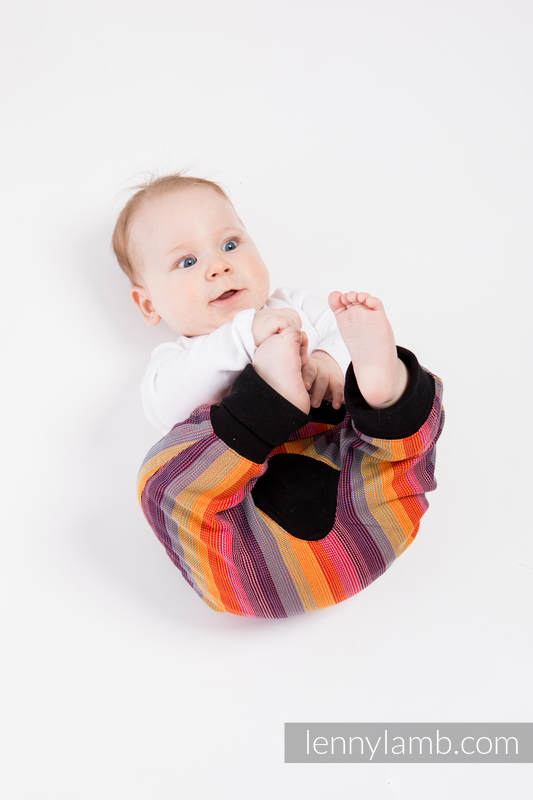 LennyBaggy - size 74 - Rainbow Red Cotton & Black #babywearing