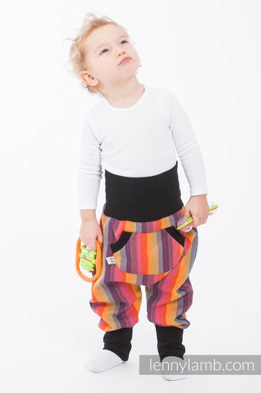LennyBaggy - talla 68 - Rainbow Red Cotton con Negro #babywearing