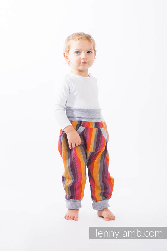 LennyBaggy - size 74 - Rainbow Red Cotton & Grey #babywearing