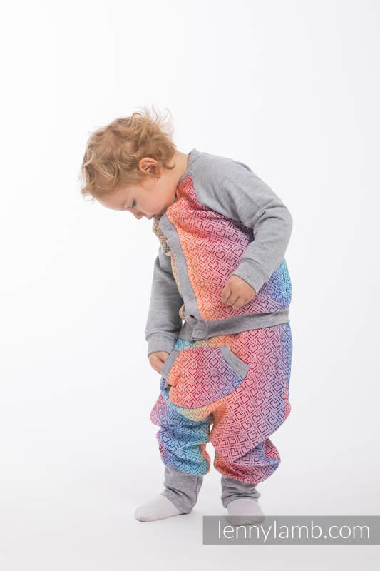 Children sweatshirt LennyBomber - size 86 - Big Love - Rainbow & Grey #babywearing
