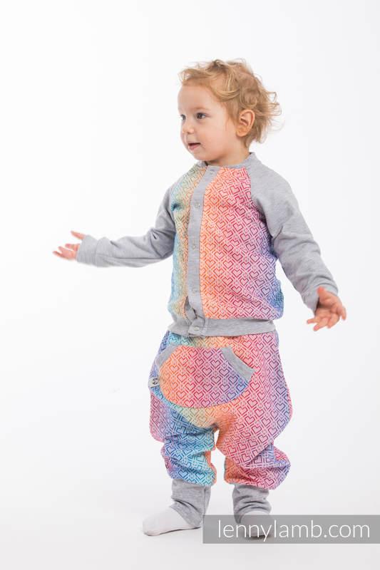 Children sweatshirt LennyBomber - size 74 - Big Love - Rainbow & Grey #babywearing