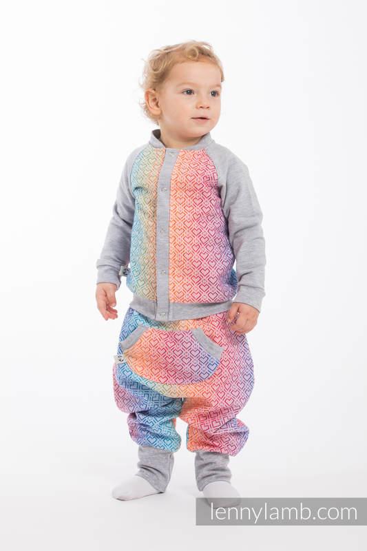 LennyBomber - Größe 62 - Big Love - Rainbow mit Grau #babywearing