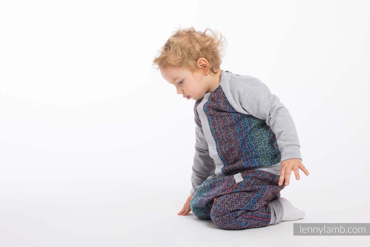 LennyBomber - Größe 62 - Big Love - Sapphire mit Grau #babywearing