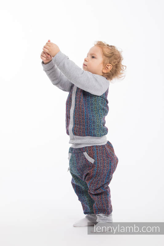 Children sweatshirt LennyBomber - size 62 - Big Love - Sapphire & Grey  #babywearing