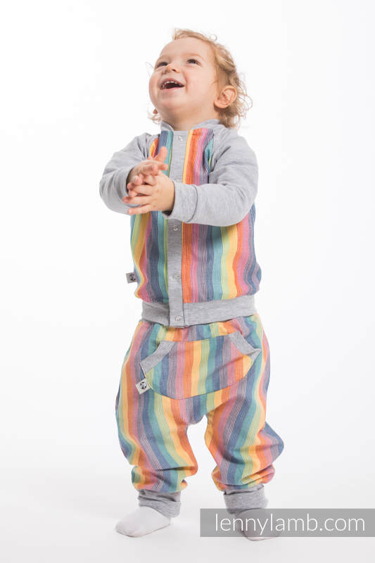 LennyBomber - Größe 68 - Luna mit Grau #babywearing