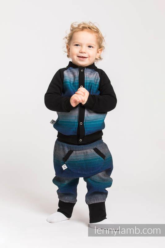 Children sweatshirt LennyBomber - size 62 - Little Herringbone Illusion #babywearing