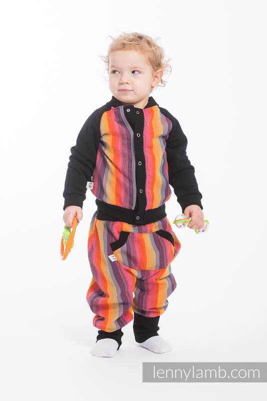 Children sweatshirt LennyBomber - size 86 - Rainbow Red Cotton #babywearing