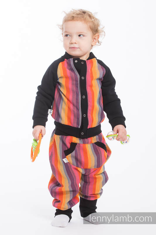 LennyBomber - Größe 80 - Rainbow Red Cotton #babywearing