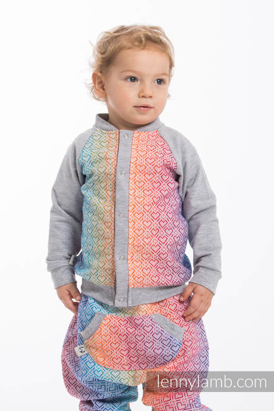 LennyBomber - Größe 80 - Big Love - Rainbow mit Grau #babywearing