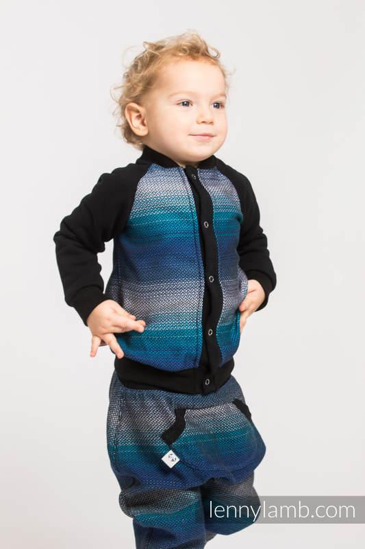 Children sweatshirt LennyBomber - size 62 - Little Herringbone Illusion (grade B) #babywearing
