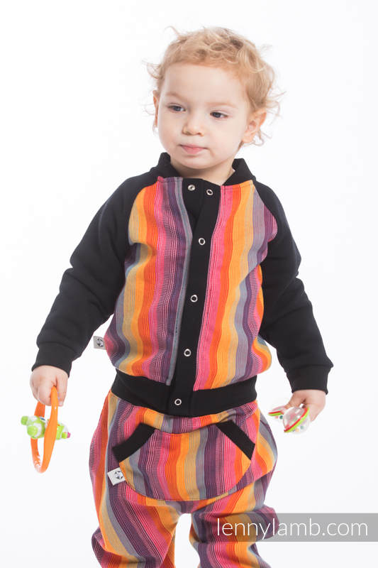 LennyBomber - Größe 98 - Rainbow Red Cotton #babywearing