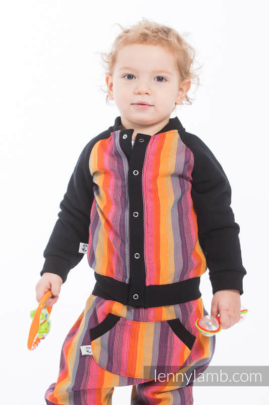 LennyBomber - Größe 62 - Rainbow Red Cotton #babywearing