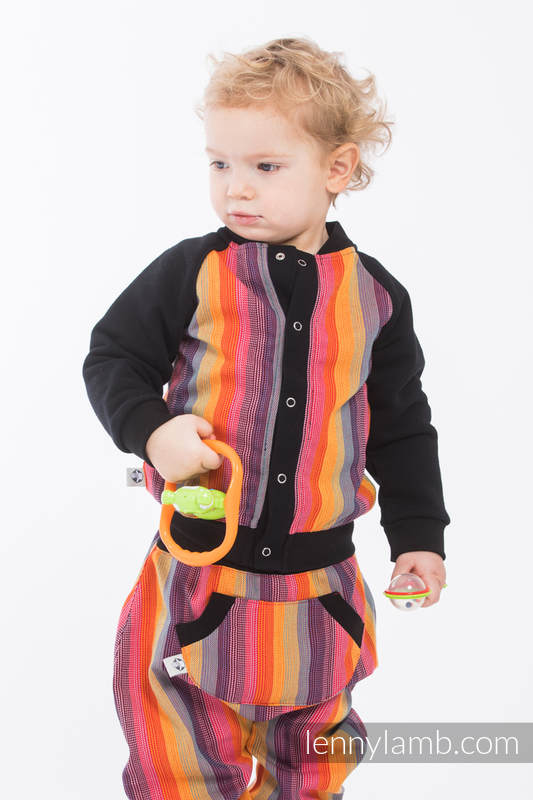 Children sweatshirt  LennyBomber - size 74 - Rainbow Red Cotton #babywearing