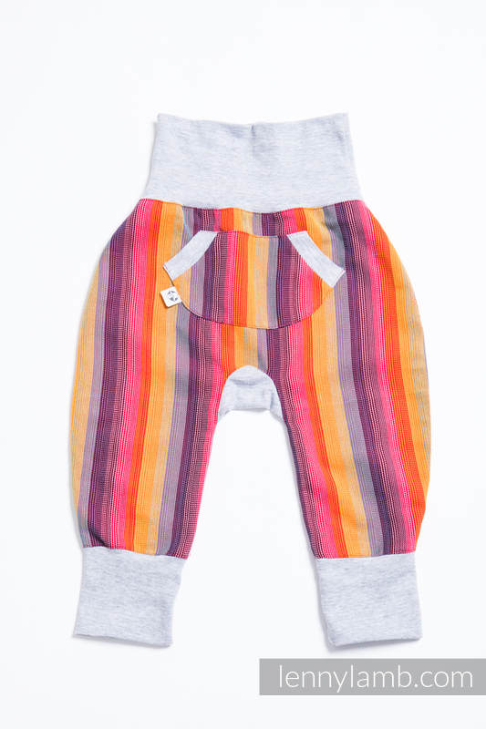 LennyBaggy - talla 80 - Rainbow Red Cotton con Gris #babywearing