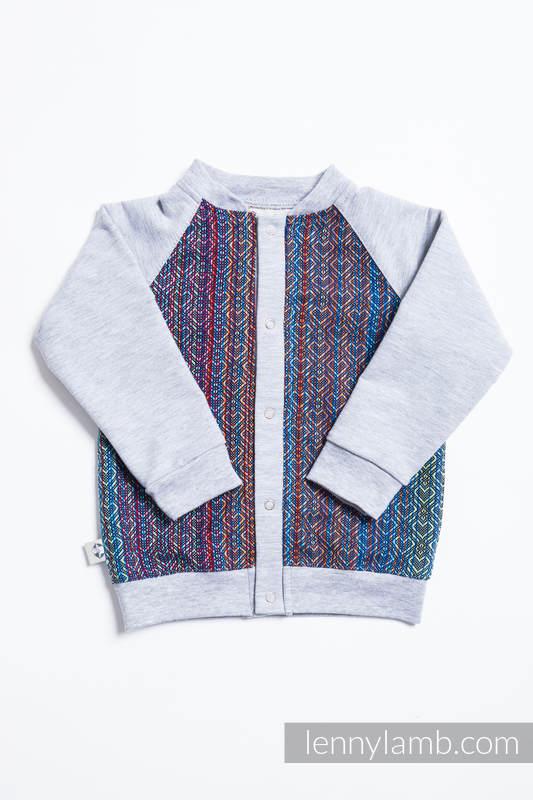 Bluza dla dziecka LennyBomber - rozmiar 80 - Big Love - Szafir z Szarym #babywearing