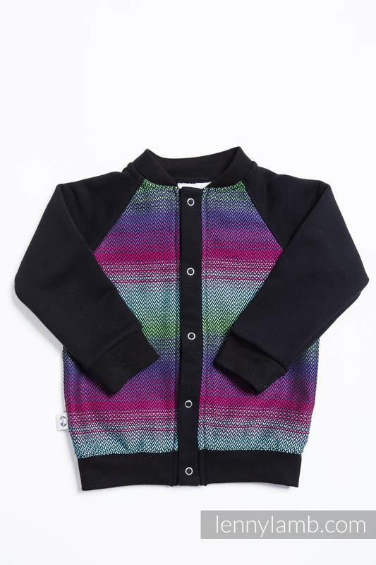 Bluza dla dziecka LennyBomber - rozmiar 68 - Mała Jodełka Impresja Dark  #babywearing