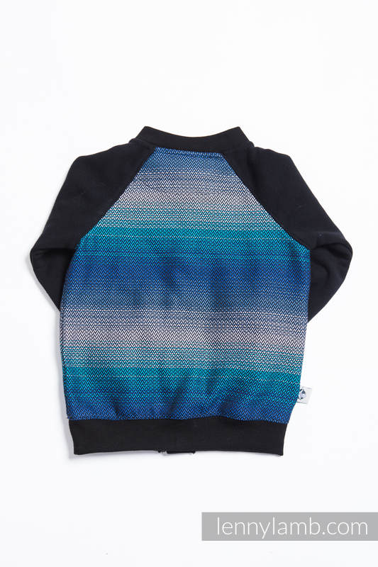 Children sweatshirt  LennyBomber - size 74 - Little Herringbone Illusion #babywearing