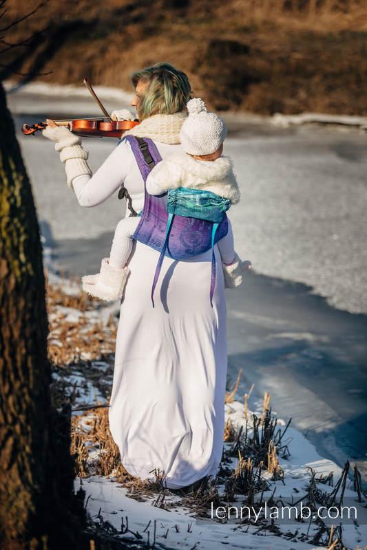 Onbuhimo SAD LennyLamb, talla estándar, jacquard (60% algodón, 36% lana merino, 4% hilo metalizado) - SYMPHONY EUPHORIA #babywearing