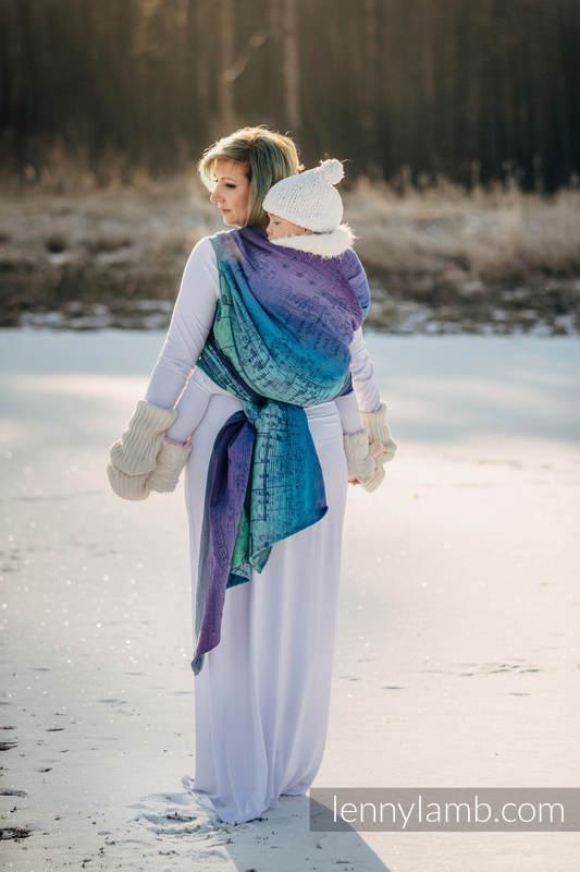 Fular, tejido jacquard (60% algodón, 36% lana merino, 4% hilo metalizado) - SYMPHONY EUPHORIA - talla XS #babywearing