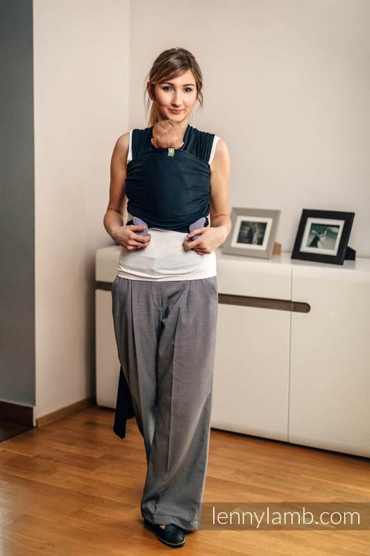 Chusta do noszenia dzieci, elastyczna - Czarny - rozmiar standardowy 5.0 m #babywearing
