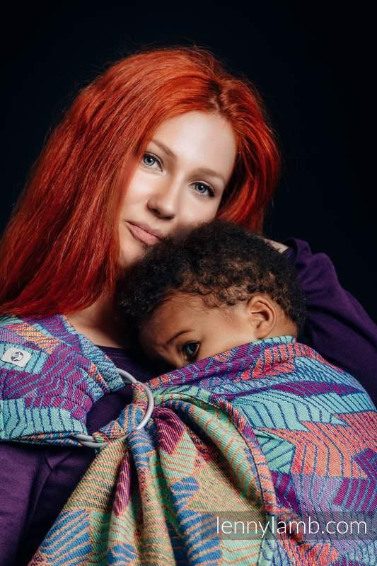 RingSling, Jacquardwebung (27% Baumwolle,73% Merinowolle) - PRISM - long 2.1m #babywearing