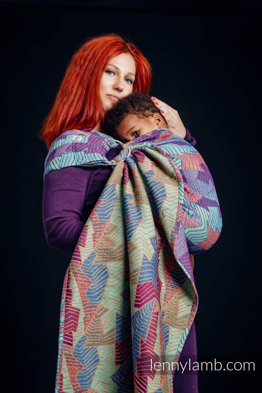 Ringsling, Jacquard Weave (27% combed cotton, 73% Merino wool) - PRISM - long 2.1m #babywearing