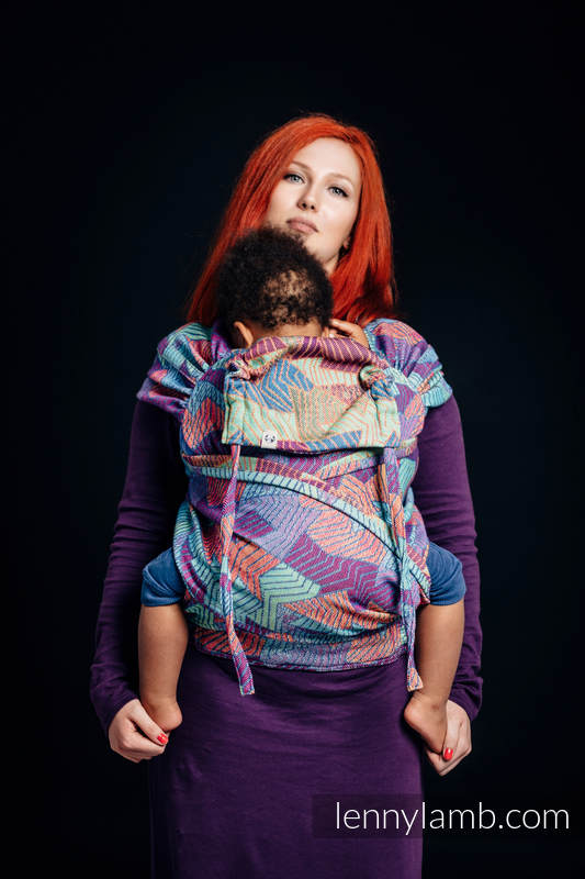WRAP-TAI carrier Mini with hood/ jacquard twill / 27% combed cotton, 73% Merino wool / PRISM #babywearing