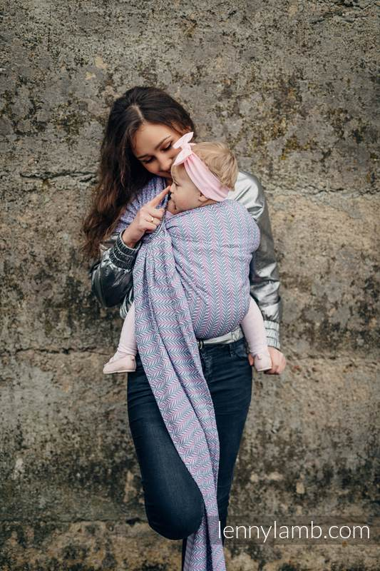 Ringsling, Jacquard Weave (100% cotton) - with gathered shoulder - YUCCA - CHILLOUT (grade B) #babywearing