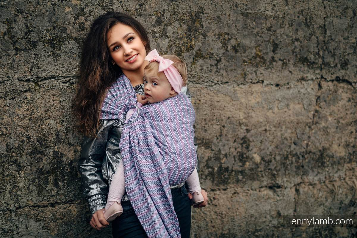 Ringsling, Jacquard Weave (100% cotton), with gathered shoulder - YUCCA CHILLOUT  - standard 1.8m #babywearing