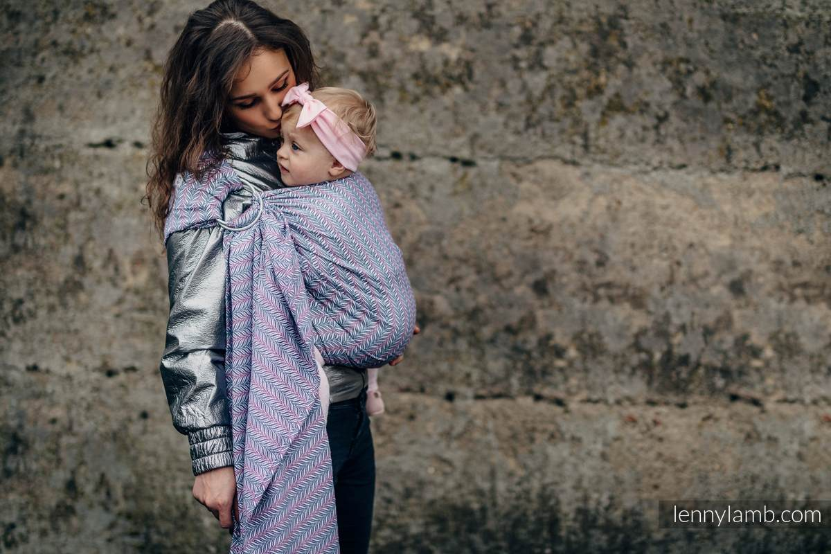 Ringsling, Jacquard Weave (100% cotton) - YUCCA - CHILLOUT - long 2.1m #babywearing