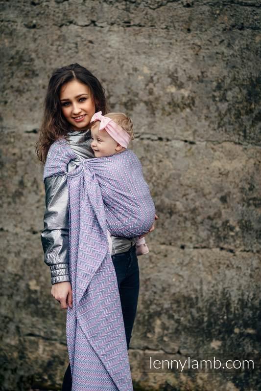 Ringsling, Jacquard Weave (100% cotton) - YUCCA CHILLOUT - standard 1.8m #babywearing